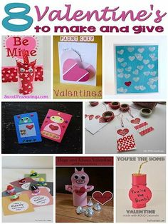 8 Valentines to Make and Give #crafts #diy
