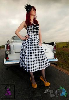 FIRESALE  Rockabilly Check Halter Dress SMALL ONLY by MissHapp, $52.00