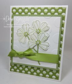 Peggys Make and Take she designed for her workshop—St. St Patricks Day Cards, Saint Patricks, Dawns Stamping Thoughts, Happy Sunday Friends, Diy Holiday Cards, Making Greeting Cards, Embossed Cards, St Paddys Day, Cards For Friends