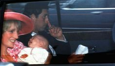Appears to be Diana holding William before or after his christening at Buckingham Palace, August, 1982