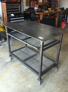 New welding table complete