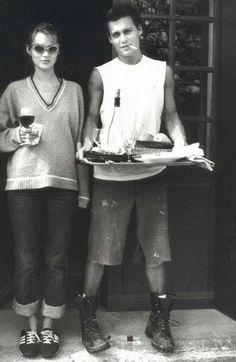 Johnny Depp  Kate Moss.