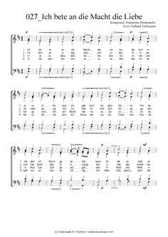 Ich bete an die Macht die Liebe (GCH) (Gemischter Chor) Demetrius Bortniansky / Gerhard Tersteegen >>> KLICK auf die Noten um Reinzuhören <<<