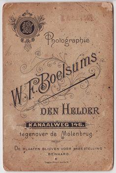 cabinet card back vintage aged ephemera