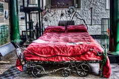 Steampunk bed by Javier López Peña, via Flickr