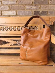Leather purse recycled from an old leather jacket. RAD