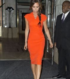 Victoria Beckham's chic dress from FNO, love.