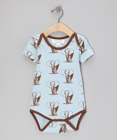 Take a look at this Brown Elephant Organic Bodysuit - Infant by Sweet Peanut on #zulily today!