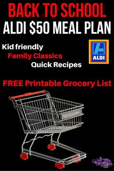 What? 5 Dinners & a HUGE brunch all for less than $50? Check out this ALDI Back to School Meal Plan with quick and easy ideas.
