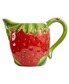 Martha Stewart Collection Serveware, Strawberry Pitcher - Serveware - Dining & Entertaining - Macy's