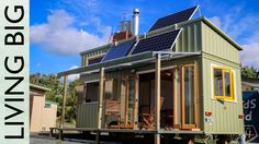 Jeff Hobbs' New Zealand home is 100% self-sustaining. It's fitted with solar panels, structural insulated panels (SIPs), and a roof system to collect rainwater.