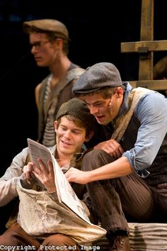Newsies, the Musical Jeremy Jordan and Andrew Keenan-Bolger - Jack and Crutchie <3333 LOVE LOVE LOVE
