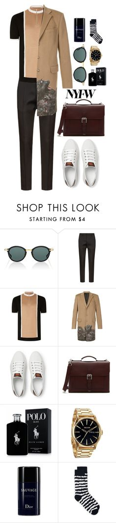 """""""Sauvage Monkey"""" by marcusv ❤ liked on Polyvore featuring Thom Browne, Dsquared2, Topman, Givenchy, Berluti, Mulberry, Ralph Lauren, Nixon, Christian Dior and men's fashion"""