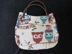 Owl shoulder bag owl shoulder purse owl design by OnPointThailand