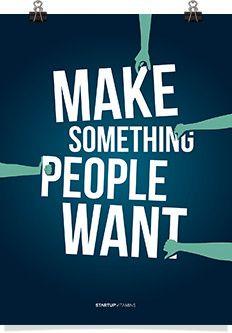 "Poster ""Make Something People Want "" - Startup Vitamins"