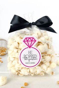 24 Personalised vintage//retro Wedding Favour Tag Sweets//Popcorn popped with love