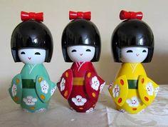 como hacer una muñeca kokeshi - Buscar con Google