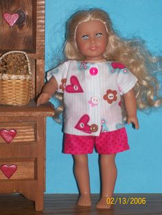 "American Girl Mini (6 1/2"") Doll Clothes."