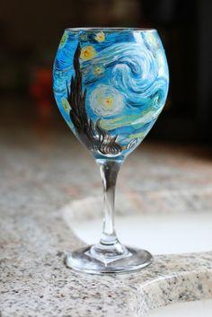 Painted wine glass for Caitie Corrigan's ...   BYOB Wine Glass Painti ...