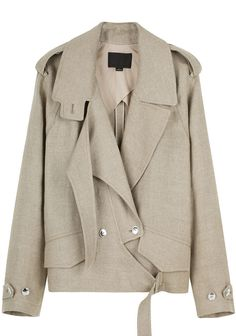 I want - Alexander Wang Linen Jacket Fashion Details, Love Fashion, Womens Fashion, Fashion Design, Fall Fashion Trends, Winter Fashion, Alexander Wang, Mode Simple, Inspiration Mode