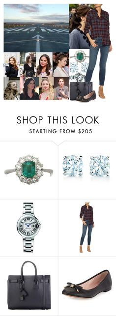 """Leaving for her bachelorette weekend with the girls and arriving in Amsterdam"" by maryofscotland ❤ liked on Polyvore featuring Beauty Secrets, Tiffany & Co., Cartier, Current/Elliott, Yves Saint Laurent and Kate Spade"