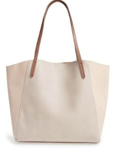 Bp. Colorblock Faux Leather Tote - Brown