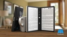 The #Flipbook is an e-reader with a #DualScreen e-ink displays, which embraces the two-sided nature of a printed book.  A single or dual screen #eReader ? Which will you prefer?