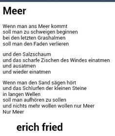 Meer   Erich Fried