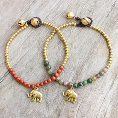Shop for Set of 2 Brass 'Stylish Elephants' Jasper Bracelets (Thailand). Free Shipping on orders over $45 at Overstock.com - Your Online World Jewelry Outlet Store! Get 5% in rewards with Club O!