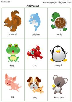 To print, first click on the image, then press Ctrl, hold down, then press P to open the Print window. Animals Flashcards Set 1: lion,...