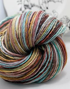 Handspun Yarn Gently Thick and Thin Worsted by SheepingBeauty, $40.00