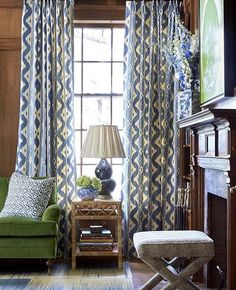 Regram from @theglampad: Design by @sarahbartholomewdesign featuring Bali Hai curtains. #quadrillefabrics #sarahbartholomewdesigns #glampad #chinaseas