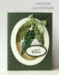 Gently falling with the reverse masking technique, using Stampin' Up! supplies. #stampinup