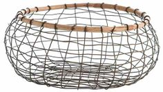 Basket Zinc Wood