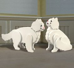 Set of 2, Life Size Persian Cat Decor - You pick the color
