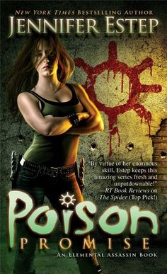 "Poison Promise (Elemental Assassin #11) by Jennifer Estep -On sale July 29th 2014 by Pocket Books -Gin Blanco is hard-nosed, sexy, and lethal. Nicknamed ""The Spider,"" she's a stone elemental assassin who brings her unique mix of magic and tact to every assignment, no matter the target."
