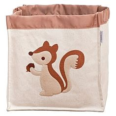 Squirrel away your child's favourite things in the cute Squirrel Storage Hamper from forwalls.