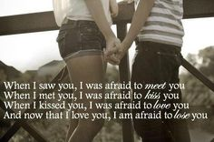 When & afraid