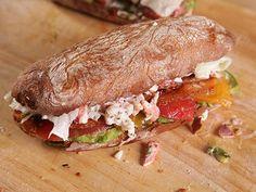 Ultimate Bacon, Lettuce, Tomato & Lobster Sandwich.