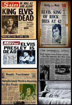 Elvis And Priscilla, Priscilla Presley, Elvis Memorabilia, Rockabilly Music, Graceland Elvis, 1970s Music, Newspaper Headlines, Elvis Presley Photos, World History