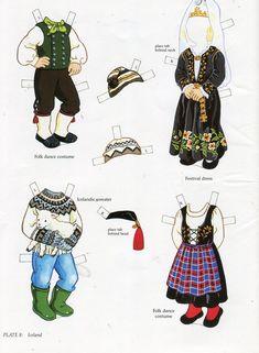 Scandinavian girl and boy - paper doll 7