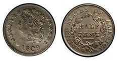 Draped bust half cent