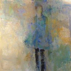 "Holly Irwin: Summer Rain, 36 x 36"" Acrylic & Mixed MediaSold"
