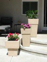 Kutstone Saratoga 3PC Crushed Stone Garden Planter Set Finish Choice