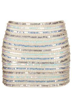 Pearl and Sequin Mini Skirt - Skirts - Clothing - Topshop USA on Wanelo