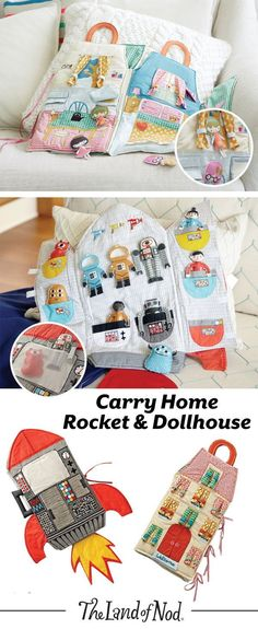 These on-the-go plush dollhouses feature an abundance of endless playtime. Soft, foldable and filled with embroidered details, these dollhouses are made for make-believe play. Girls and boys of all ages will love to take their dolls on tons of imaginary adventures.