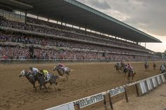 Activity usually begins early at Belmont Park, but there was more than usual on the day of the Belmont Stakes, the third jewel of the Triple Crown. The Belmont Stakes, Thoroughbred Horse, Race Day, Horse Racing, Ny Times, New Art, Jewel, Third, Crown