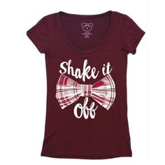 Shake it Off Tee Cute shake it off top from Taylor swifts song! Very cute and soft. Stretchy and comfy! White tee shows specific style of this graphic tee.    95% rayon, 5% spandex   No trades. Price firm. PLEASE DO NOT purchase this listing. Comment below what size you need and I'll make you a listing Tops Tees - Short Sleeve