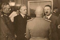 Wilhelm Keitel, Joachim von Ribbentrop, Hitler and Mussolini Joachim Von Ribbentrop, German People, The Third Reich, Rare Photos, Historical Photos, World War Ii, Ww2, Germany, Inner Circle