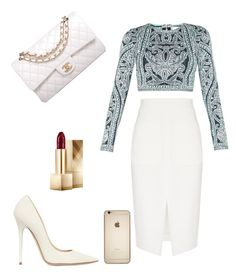 ? by xilasia on Polyvore featuring polyvore, fashion, style, Hervé Léger, L'Agence, Jimmy Choo, Chanel and Burberry